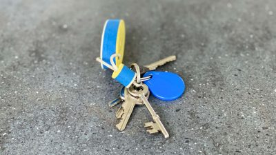 bunch of keys - sitting kitty